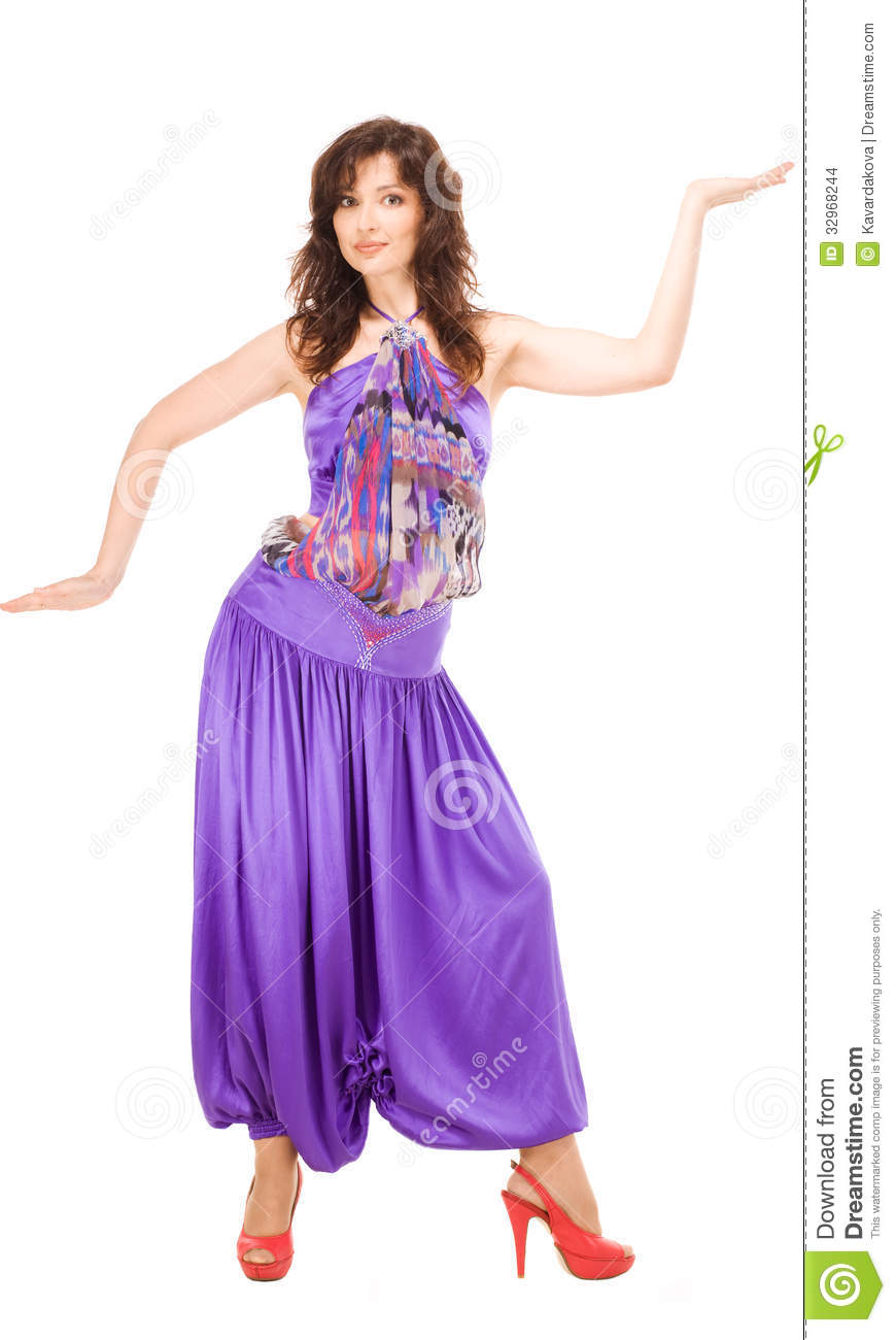 Woman In Evening Dress Dancing Stock Images   Image  32968244