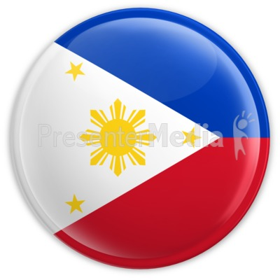 Badge Of The Flag Of Philippines   Signs And Symbols   Great Clipart