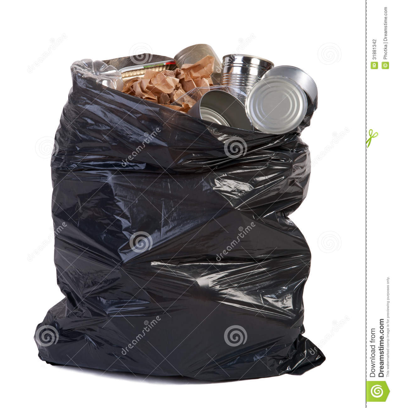 Bag Full Of Garbage Stock Photography   Image  31881342