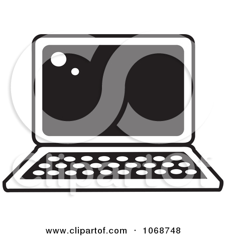 Clipart Black And White Laptop Icon   Royalty Free Vector Illustration