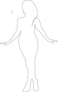 Curvy Girls Silhouette Clipart - Clipart Kid
