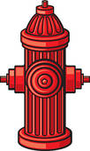 Fire Hydrant   Clipart Graphic