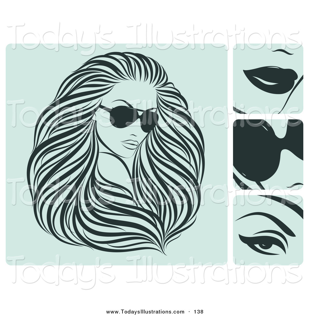 Flowing Hair Clipart Lady With Flowing Hair And