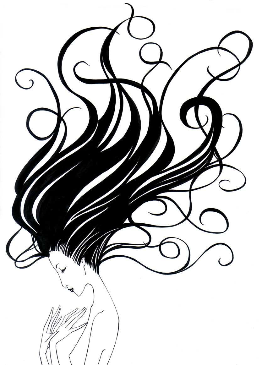 Flowing Hair Drawing   Clipart Panda   Free Clipart Images