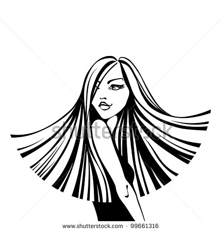 Flowing Hair Silhouette 405862 Woman With Long Flowing Straight Hair