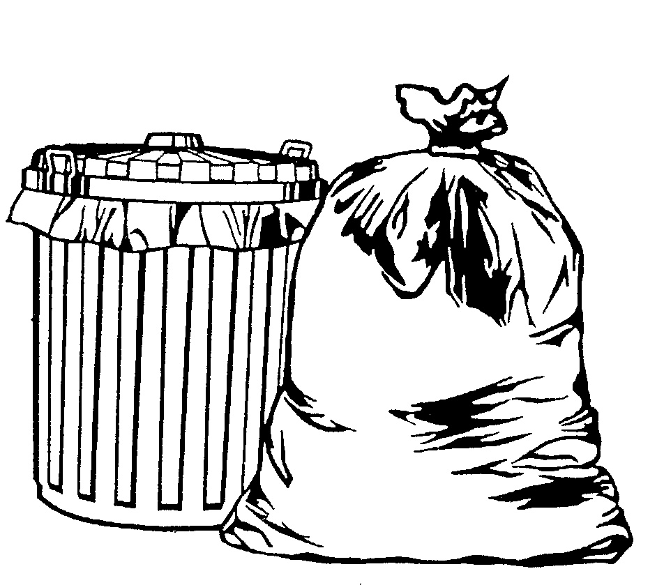 Bag In Garbage Can Clipart - Clipart Kid
