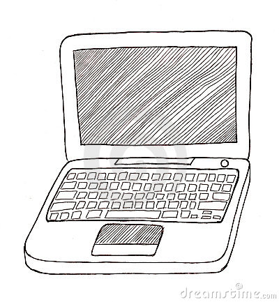 Laptop Black And White Clipart Laptop Black And White