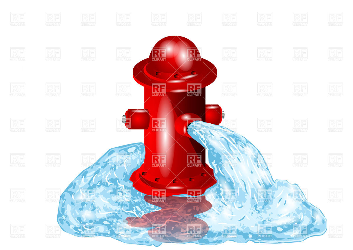 Open Fire Hydrant With Flowing Out Water 27367 Download Royalty Free