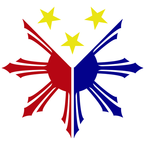 Philippines Flag Logo Sun Star Pinoy Pinay Custom Vinyl Decal