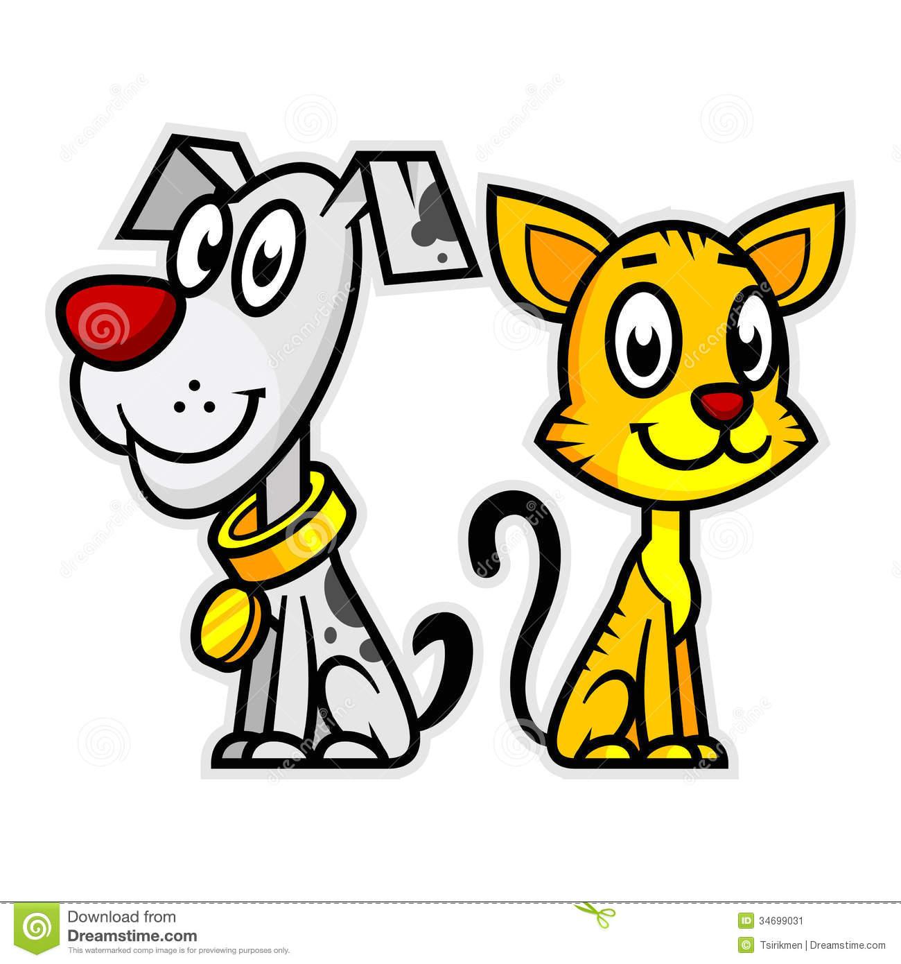 Smiling Dog And Cat Stock Image Image 34699031 #8KWyxp ...