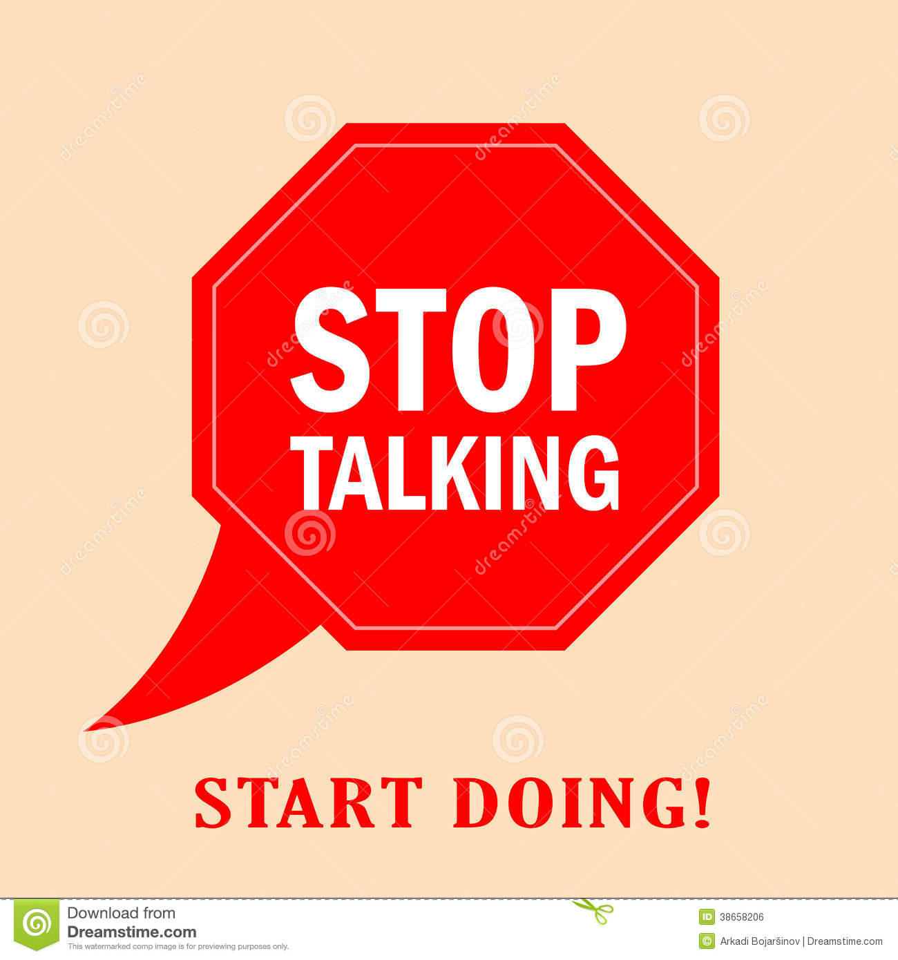 Stop Talking Vector Poster Royalty Free Stock Image   Image  38658206