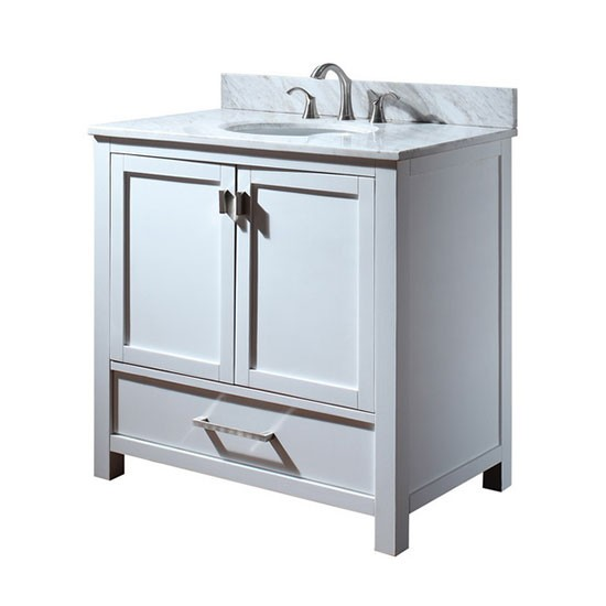 White Bathroom Vanities With Marble Tops Carrara White Marble Top