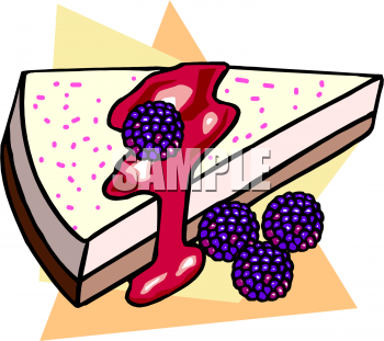 Blackberry Cheesecake Clipart Picture   Foodclipart Com