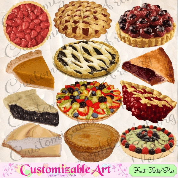 Blackberry Pie Clip Art Pie Clipart Digital Pie Pies