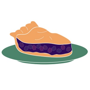 Blackberry Pie Clipart Image   Blackberry Pie