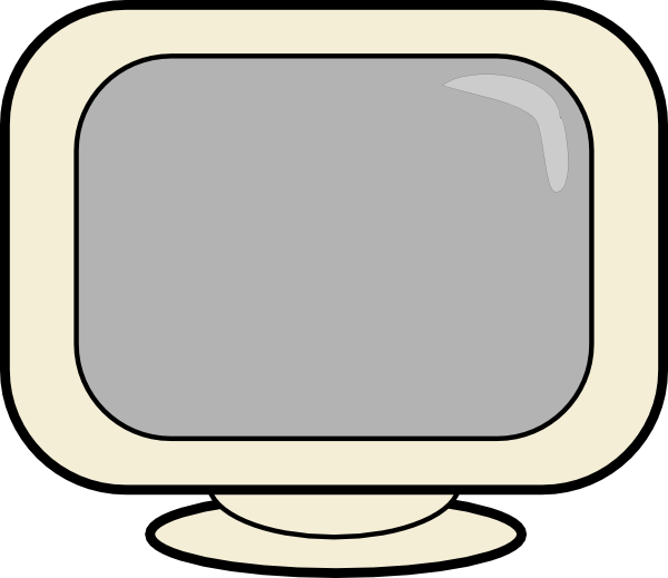 Blank Computer Screen Clip Art
