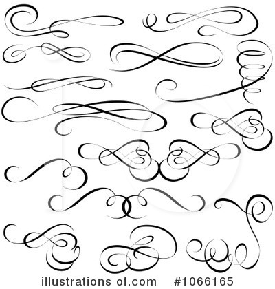 Calligraphy Swirls Clipart - Clipart Kid