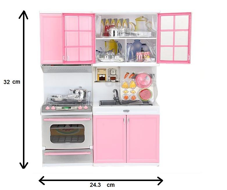 Childrens kitchen play set pretend cook children toy pink for Kitchen set wala game