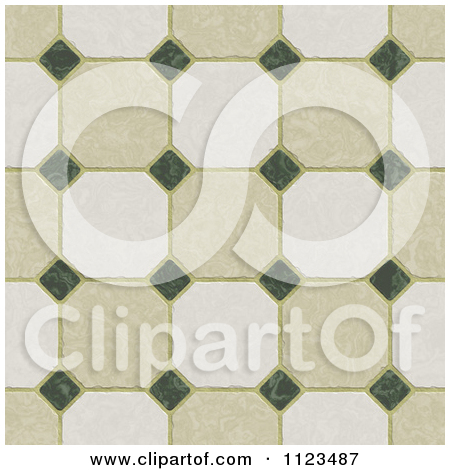 Clipart Of A Seamless Tile Floor Texture Background Pattern   Royalty