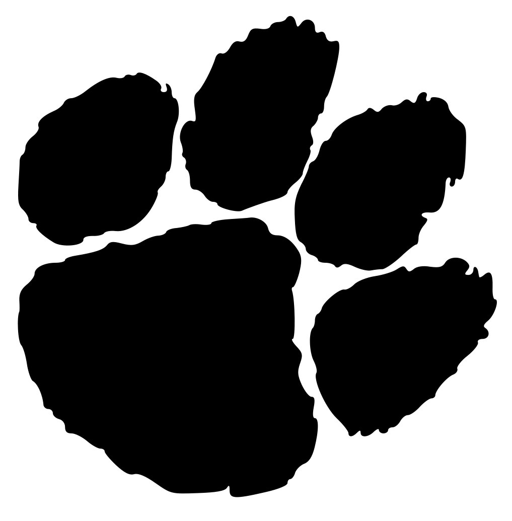 Tiger Paw Clipart File Clemson University Tiger Paw Logo Svg Cameo Jobspapa Com
