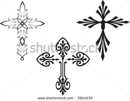 Filigree Clip Art   Vector Design Art Illustrations  Crosses