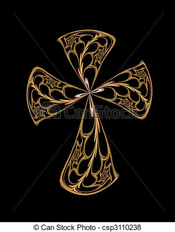 Filigree Cross    Csp3110238   Search Eps Clip Art Drawings