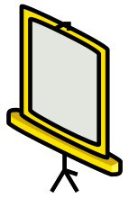 Free Clipart Of Video Screen Clipart Of A Yellow Video Screen