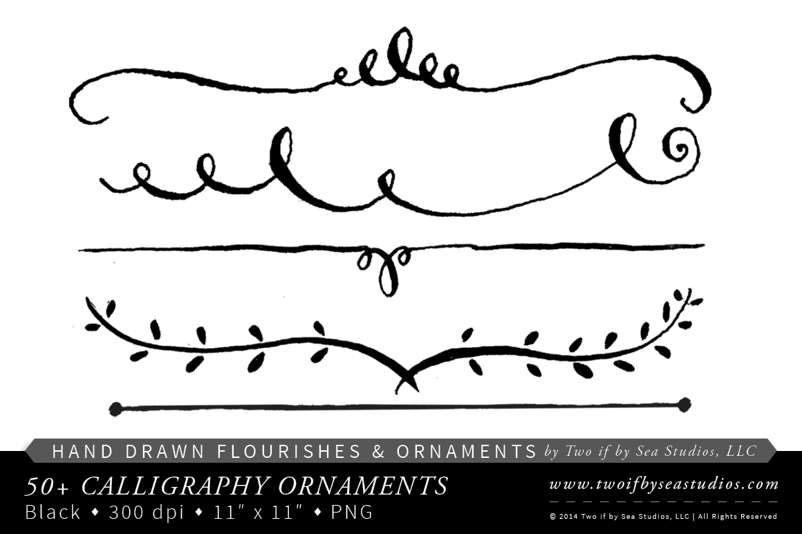 Calligraphy Swirls Clipart Clipart Suggest