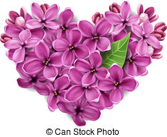 Heart From Flowers Of A Lilac   Flowers Of A Lilac In The