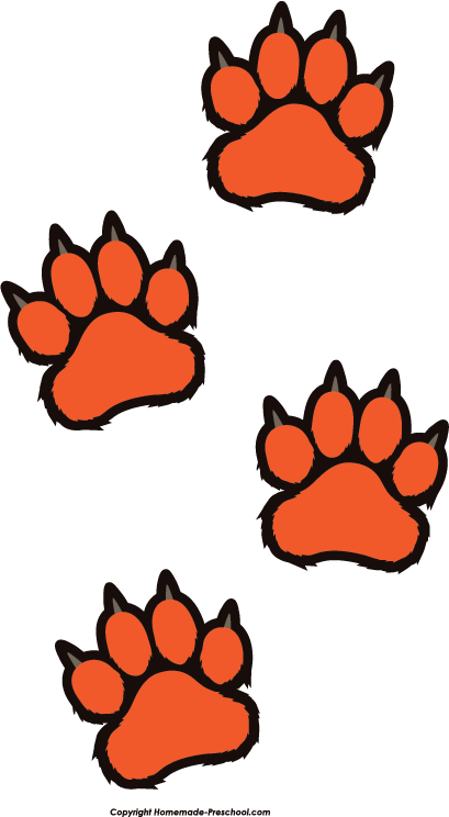 Tiger Paw Print Clip Art Home Free Clipart Paw Prints Clipart Tiger Paw Prints Prints