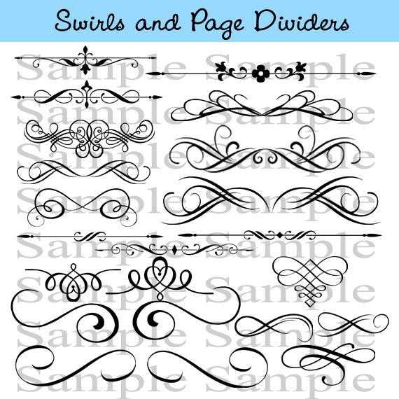Calligraphy swirls clipart suggest