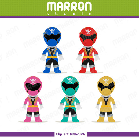 Marron Studio   Power Rangers Super Megaforce Inspired Set Pink Red