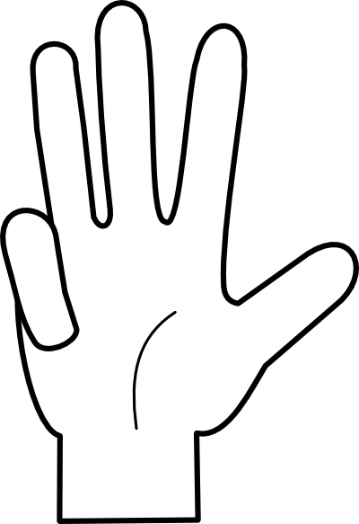 Counting Fingers Clipart - Clipart Kid