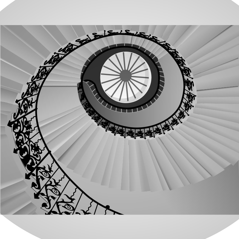 Spiral Staircase By Gespenst   Spiral Staircase In Grayscale
