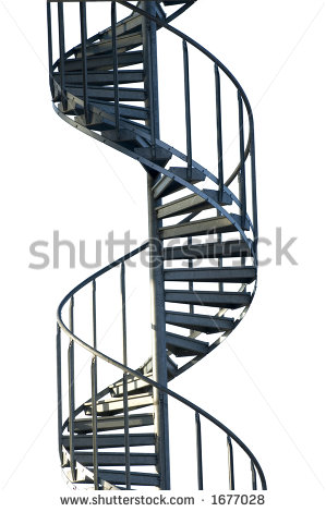 Spiral Stairs Clipart Spiral Staircase   Stock Photo