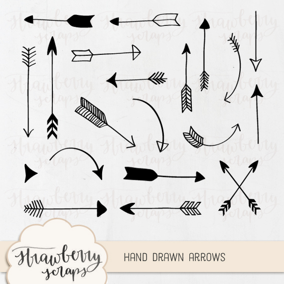 Tumblr Hand Drawn Arrows Clip Art Pack A Lovely Pack Of Hand Drawn