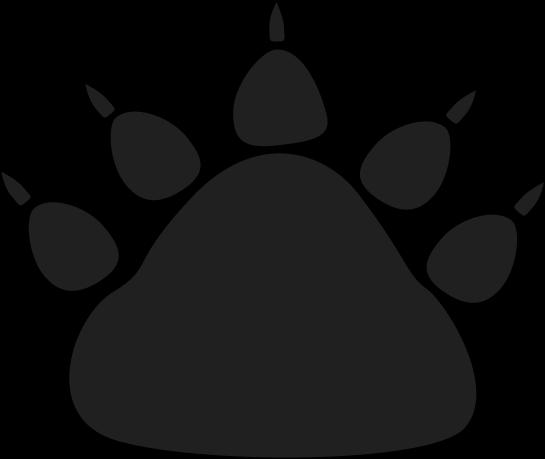 Clip Art Bear Paw Clip Art bear paw clipart kid black print clip art image