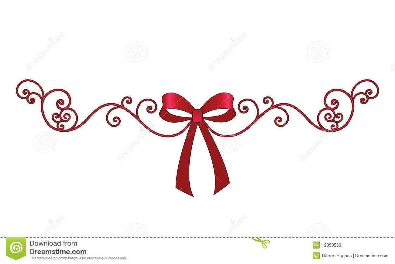 Bow With Elegant Coil Filigree Stock Photos   Image  12058563