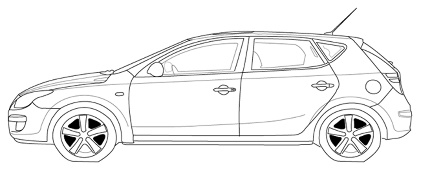 Race Car Outline Cliparts on nascar car illustration