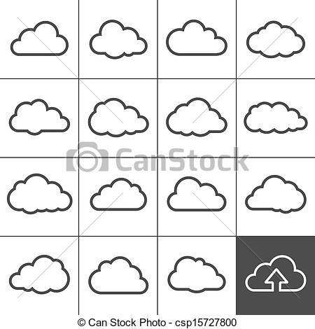 Cloud Shapes Collection  Cloud Icons For Cloud Computing Web And App