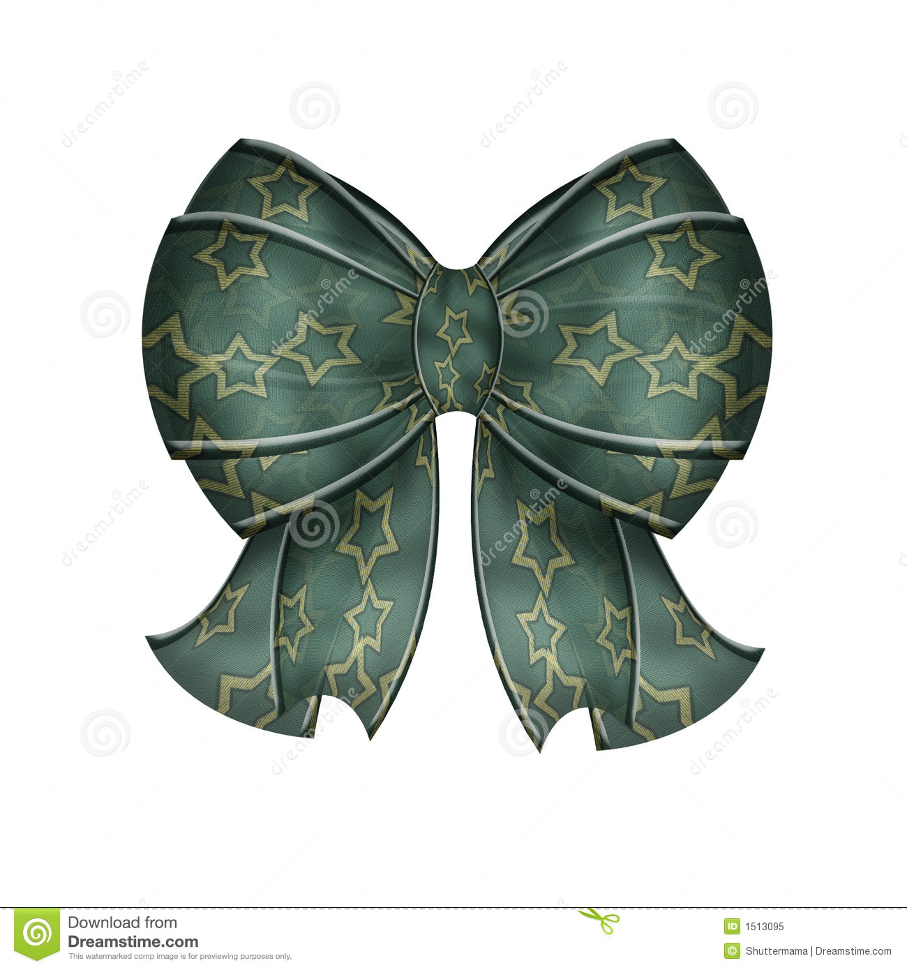 Fancy Blue Green Bow With Stars Royalty Free Stock Photo   Image