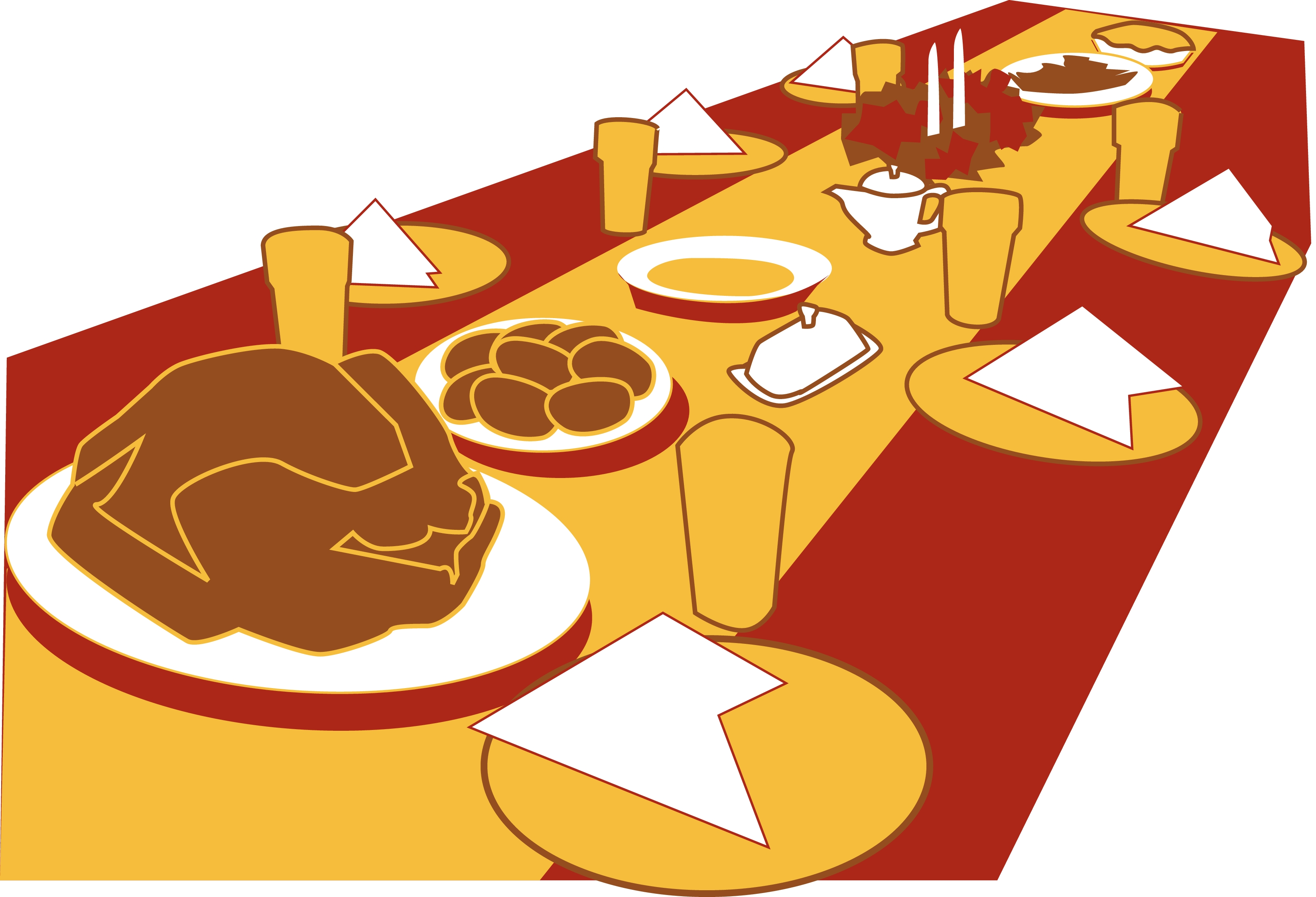 First Thanksgiving Feast Clipart - Clipart Suggest