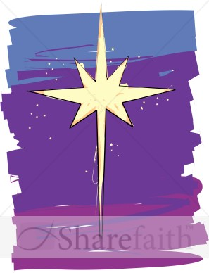 Point Star On Night Sky   Epiphany Clipart