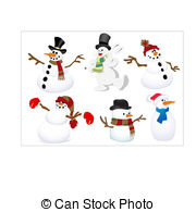 Snowmen Clip Art Vector And Illustration  13913 Snowmen Clipart