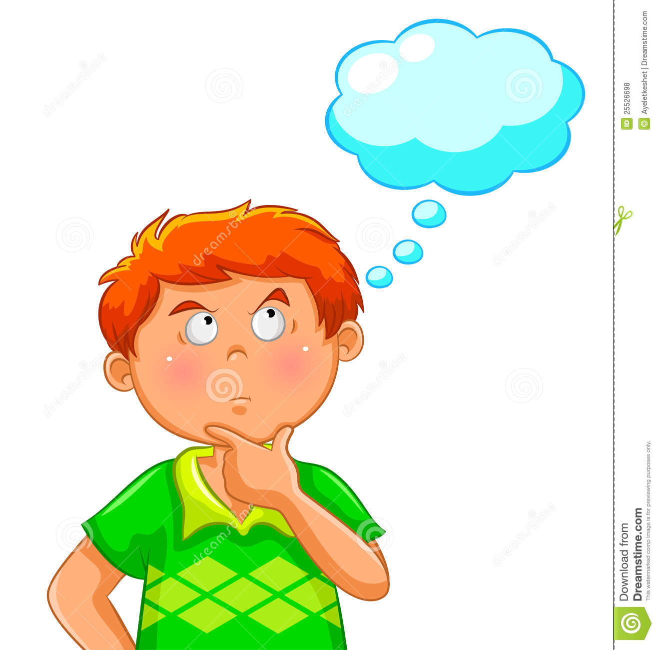 Thinking Boy Royalty Free Stock Photos   Image  25526698
