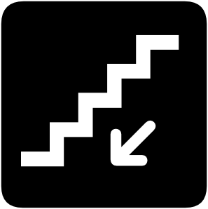 Walking Down Stairs Clip Art