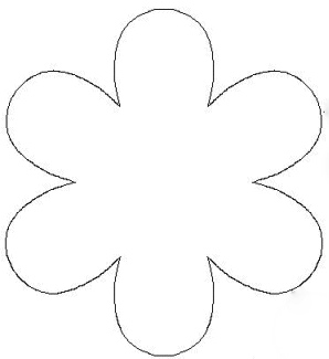 Five petal flower clipart clipart suggest for Flower template 5 petals