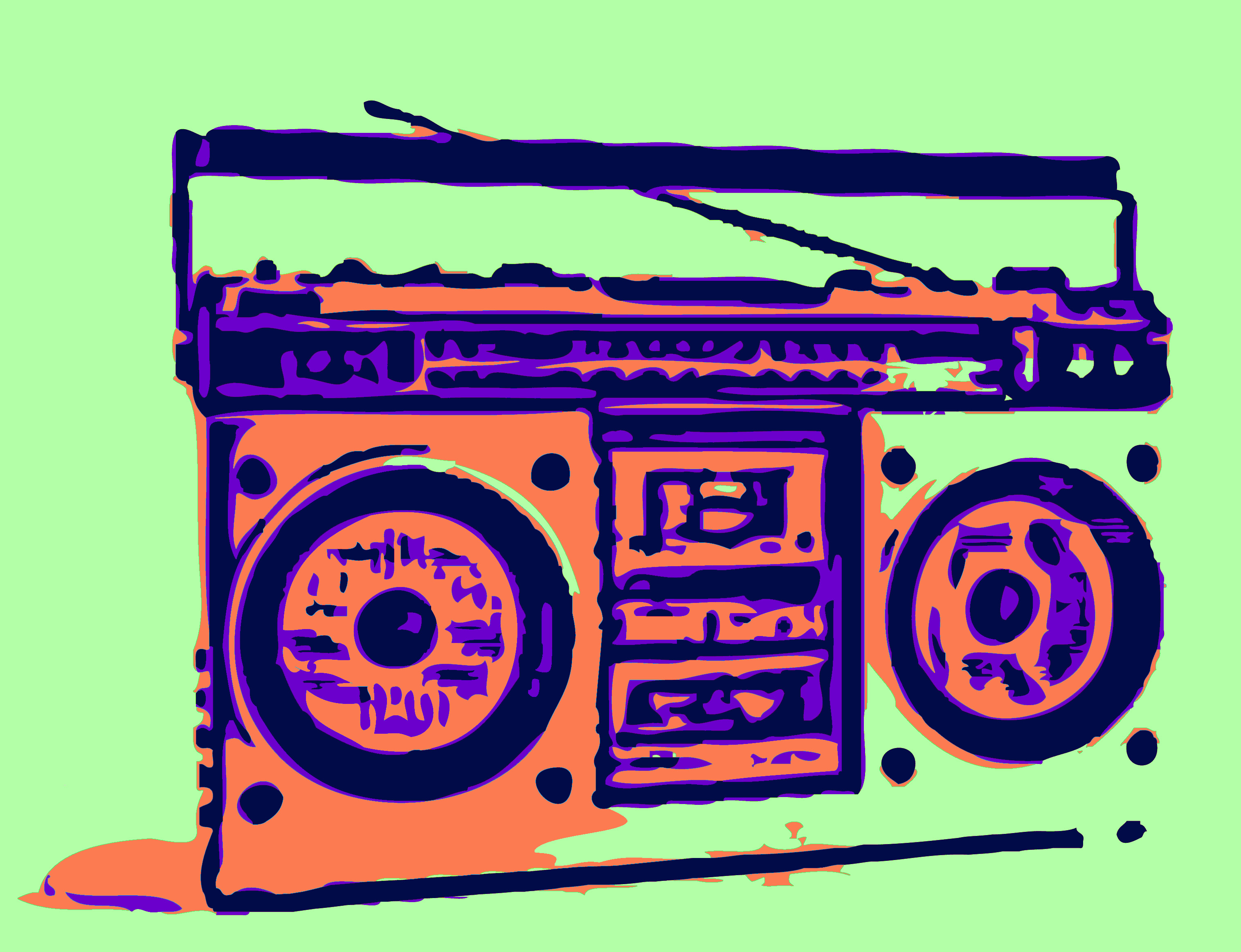 Cartoon Boombox Free Cliparts That You Can Download To You Computer