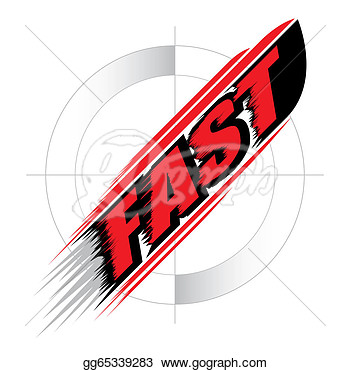 Clip Art   Fast Speed Concept Vector  Stock Illustration Gg65339283
