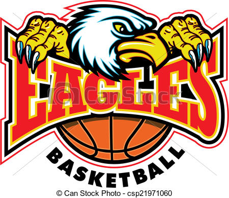 Eagle Mascot Basketball Clipart - Clipart Kid